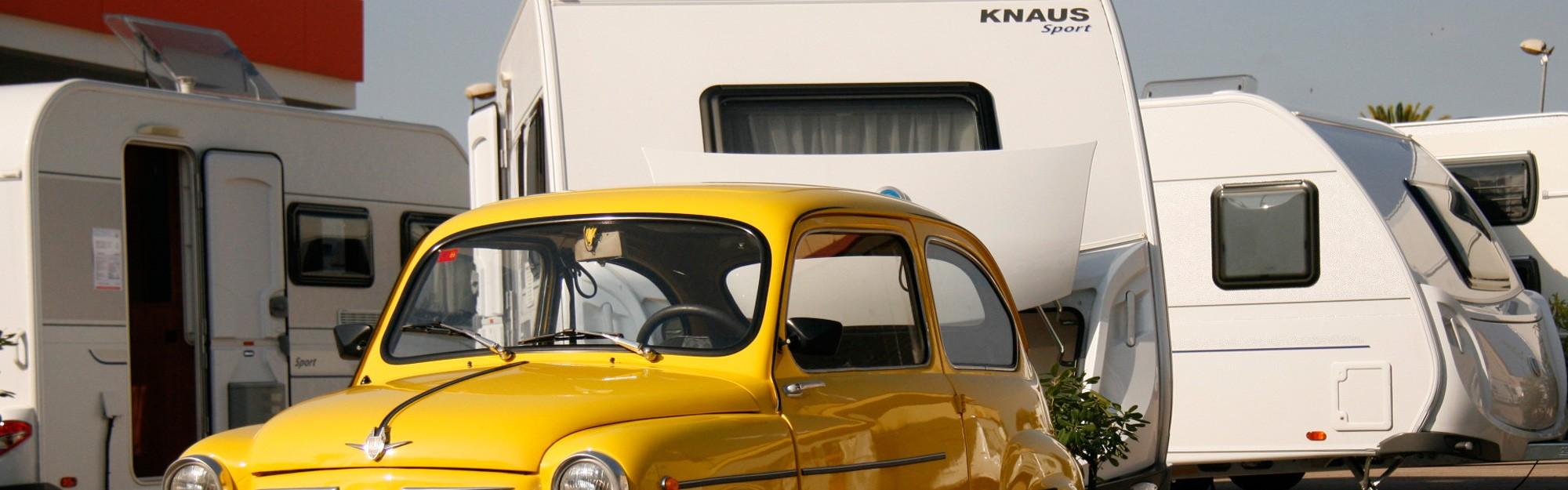 Caravana Knaus en exposición