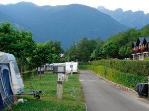 camping con rulotte en Biescas