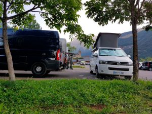 Parking para autocaravana en Torla